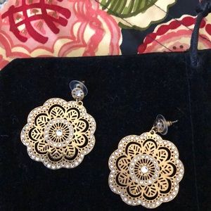 Brighton Gold and Crystal Earrings Brighton Pouch